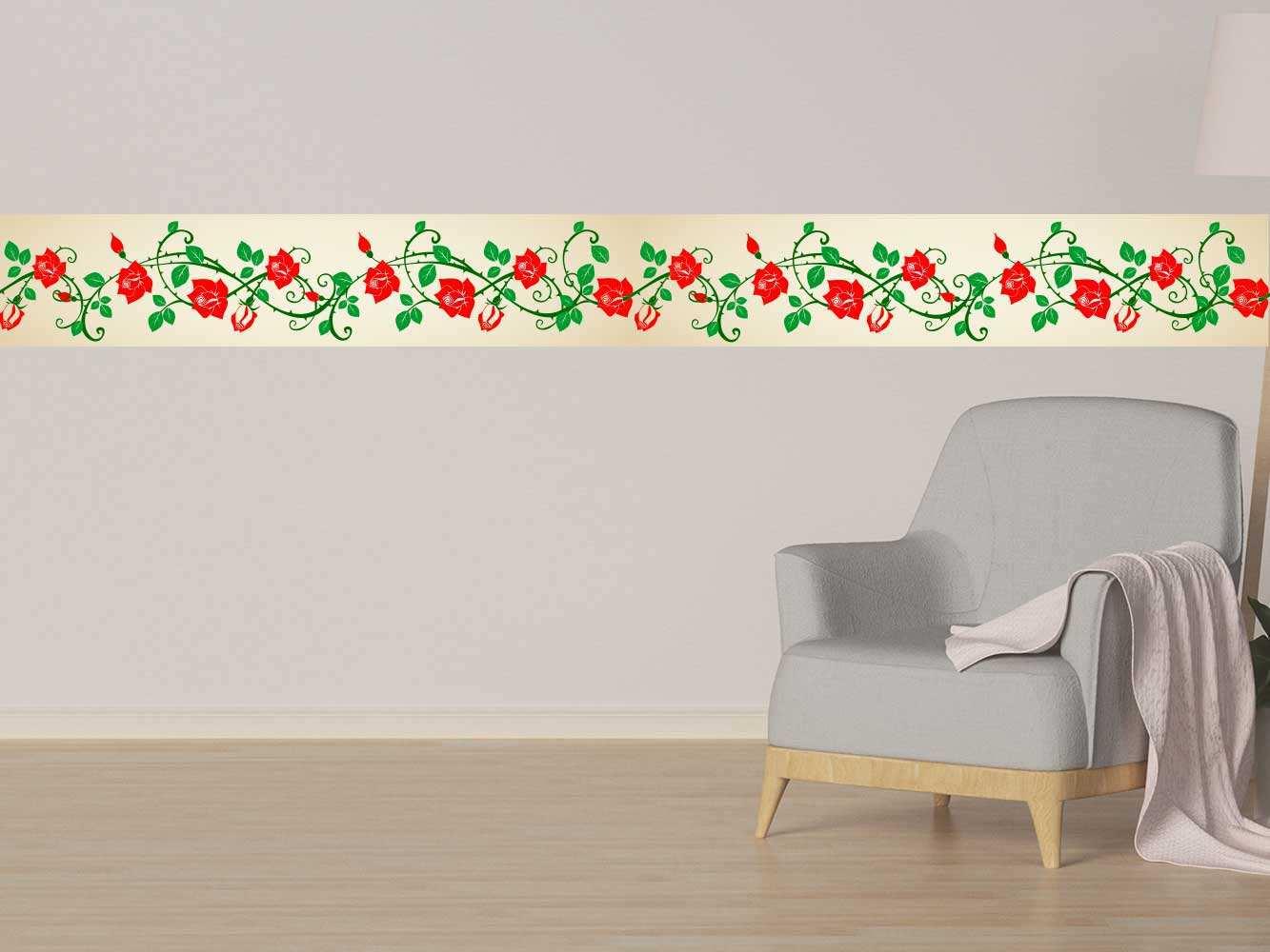 Cenefa Horizontal Temática Rosas | Carteles XXL - Impresión carteleria publicitaria