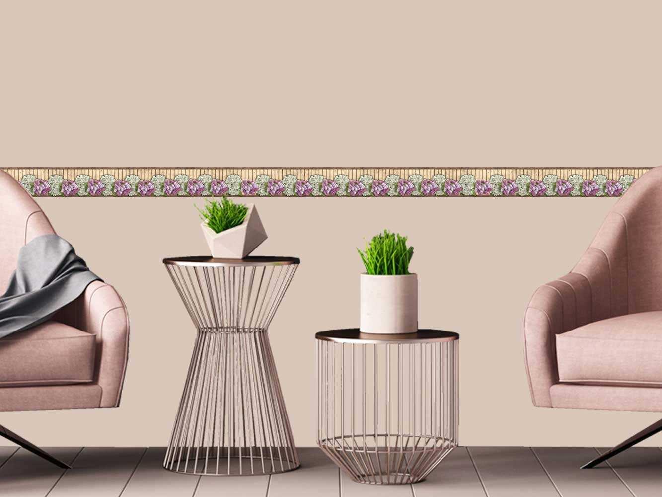 Cenefa Horizontal Floral Tulipanes | Carteles XXL - Impresión carteleria publicitaria
