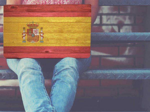 Vinilo Adhesivo Portátil Bandera de España | Carteles XXL - Impresión carteleria publicitaria