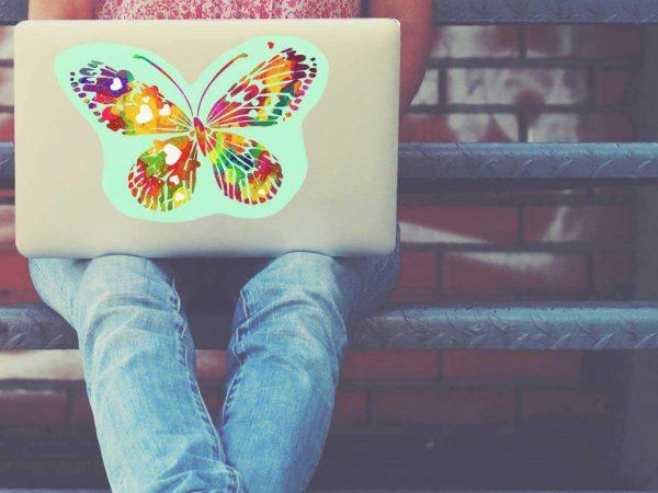 Vinilo Adhesivo Portátil Mariposa de Colores | Carteles XXL - Impresión carteleria publicitaria