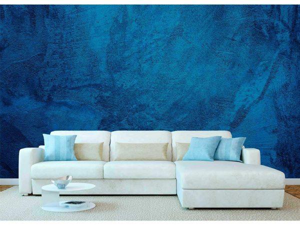 Fotomural Vinilo Textura Cemento Azul   Carteles XXL - Impresión carteleria publicitaria