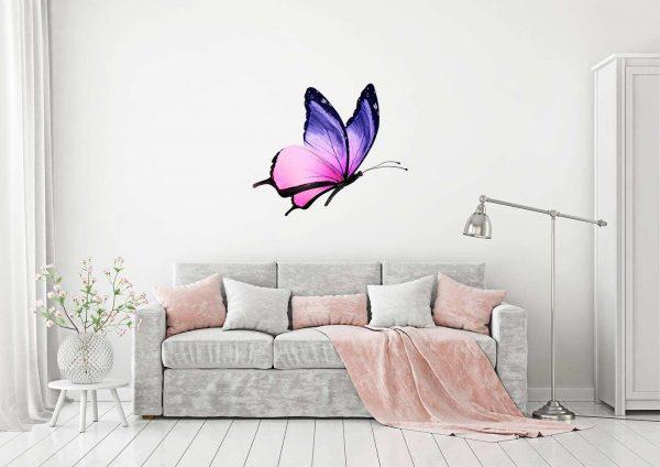 Vinilo Decorativo Mariposa Rosa | Carteles XXL - Impresión carteleria publicitaria