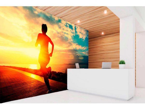 Fotomural Vinilo Running Atardecer | Carteles XXL - Impresión carteleria publicitaria