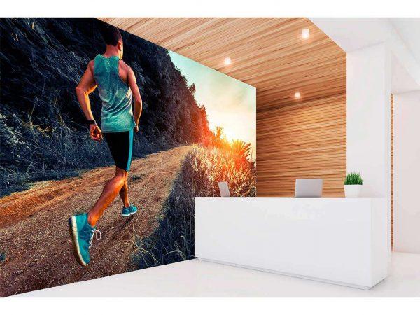 Fotomural Vinilo Running Camino Senderismo | Carteles XXL - Impresión carteleria publicitaria