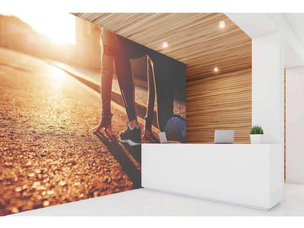 Fotomural Vinilo Running Salida de Carrera | Carteles XXL - Impresión carteleria publicitaria