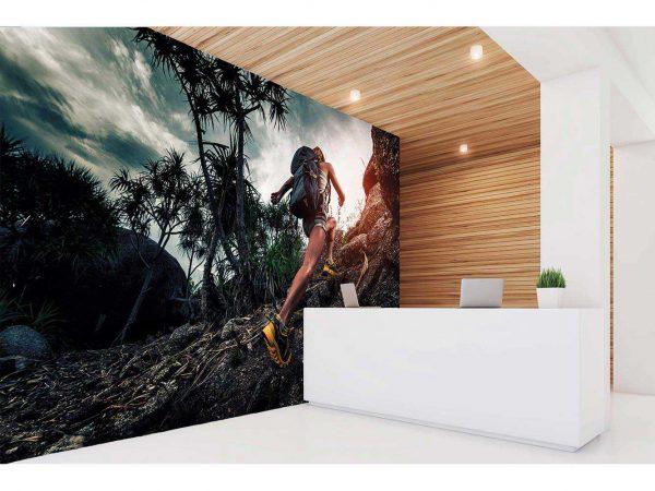Fotomural Vinilo Running Ascenso Alpino   Carteles XXL - Impresión carteleria publicitaria