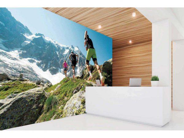 Fotomural Vinilo Running Montaña | Carteles XXL - Impresión carteleria publicitaria