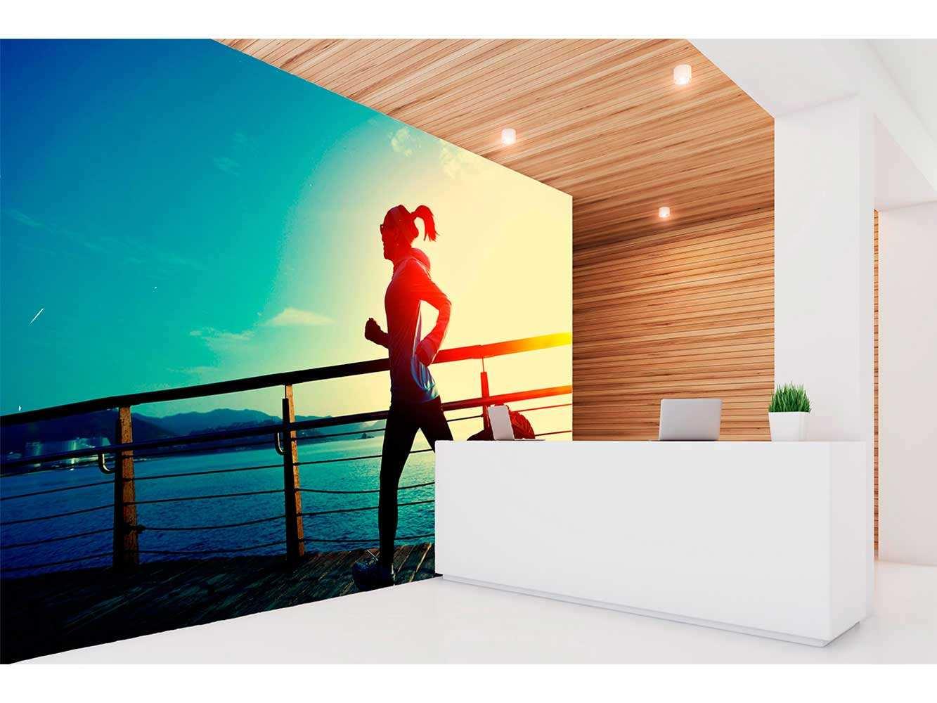 Fotomural Vinilo Running Puerto Marítimo | Carteles XXL - Impresión carteleria publicitaria