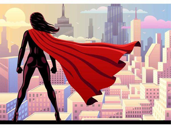 Fotomural Papel Pintado Mujer Superhéroe | Carteles XXL - Impresión carteleria publicitaria