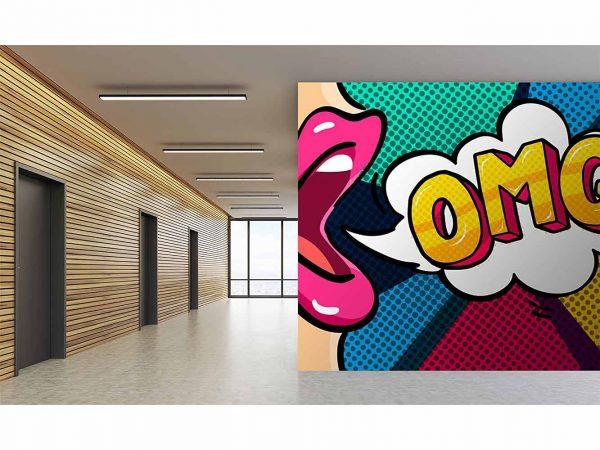 Fotomural Papel Pintado Cómic OMG | Carteles XXL - Impresión carteleria publicitaria