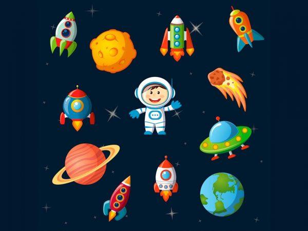Pack Figuras Vinilos Infantiles Espacio | Carteles XXL - Impresión carteleria publicitaria