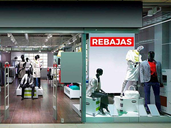 Pack Vinilos Rebajas Rojo Blanco | Carteles XXL - Impresión carteleria publicitaria