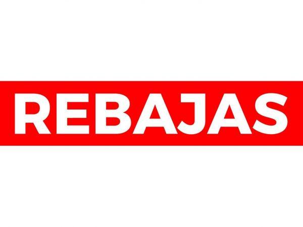 Pack Vinilos Rebajas Rojo Blanco   Carteles XXL - Impresión carteleria publicitaria