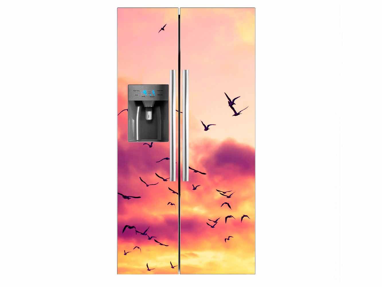 Vinilo Frigorífico Americano Pájaros Volando | Carteles XXL - Impresión carteleria publicitaria