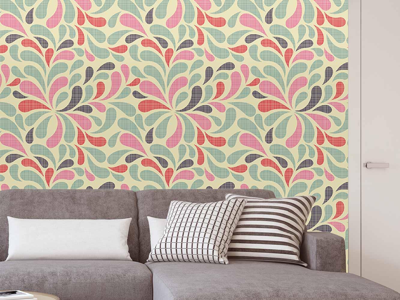 Fotomural Papel Pintado Arte Floral Abstracto | Carteles XXL - Impresión carteleria publicitaria