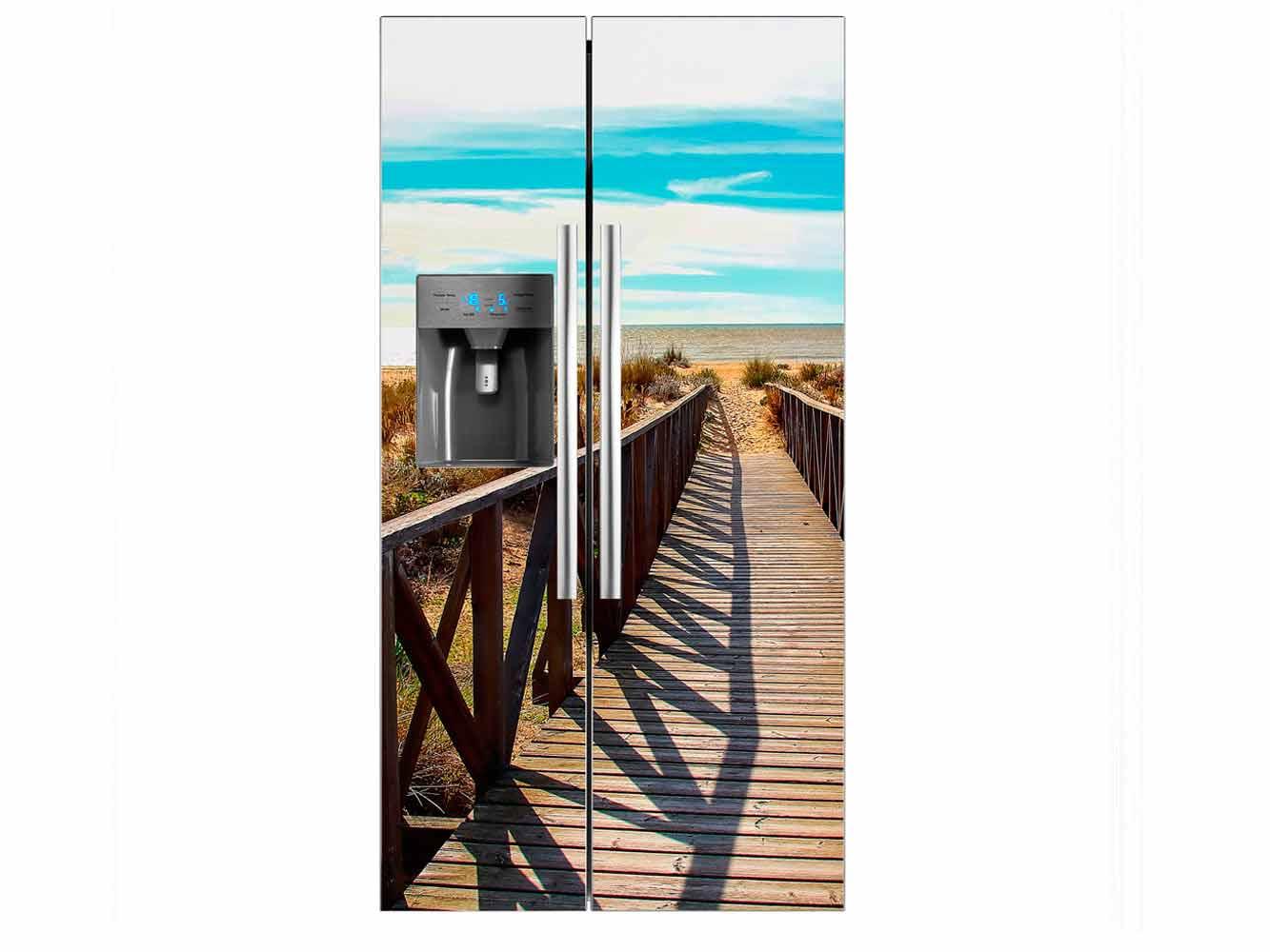 Vinilo Frigorífico Pasarela Playa | Carteles XXL - Impresión carteleria publicitaria