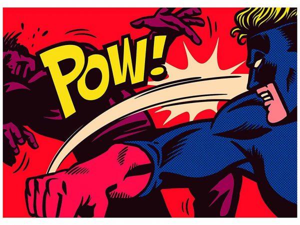 Fotomural Papel Pintado Pelea Superheroes | Carteles XXL - Impresión carteleria publicitaria