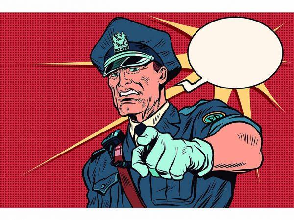 Fotomural Papel Pintado Policía Cómic | Carteles XXL - Impresión carteleria publicitaria