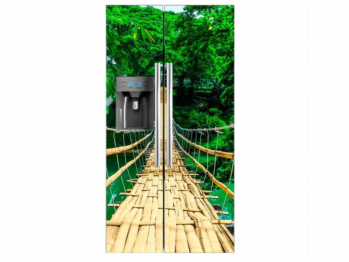 Vinilo Frigorífico Puente Río | Carteles XXL - Impresión carteleria publicitaria