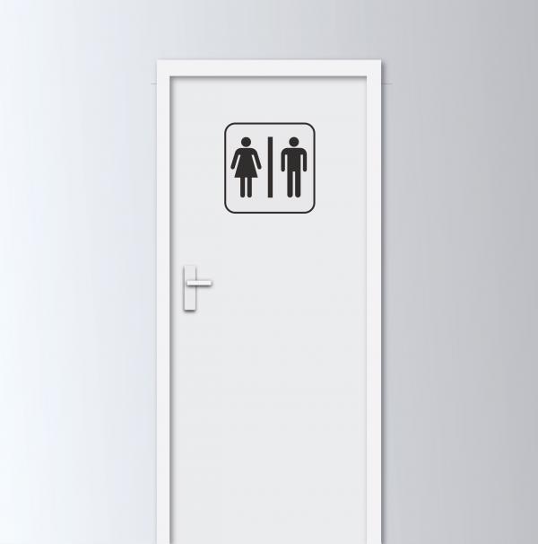 Vinilo Decorativo WC 30x30cm   Carteles XXL - Impresión carteleria publicitaria
