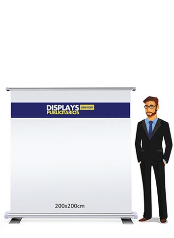 Rollup publicitario 200x200cm | Carteles XXL - Impresión carteleria publicitaria