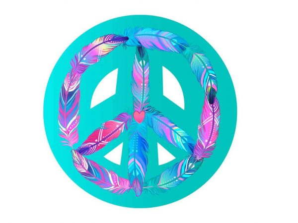 Vinilo Adhesivo Portátil Símbolo Hippie | Carteles XXL - Impresión carteleria publicitaria