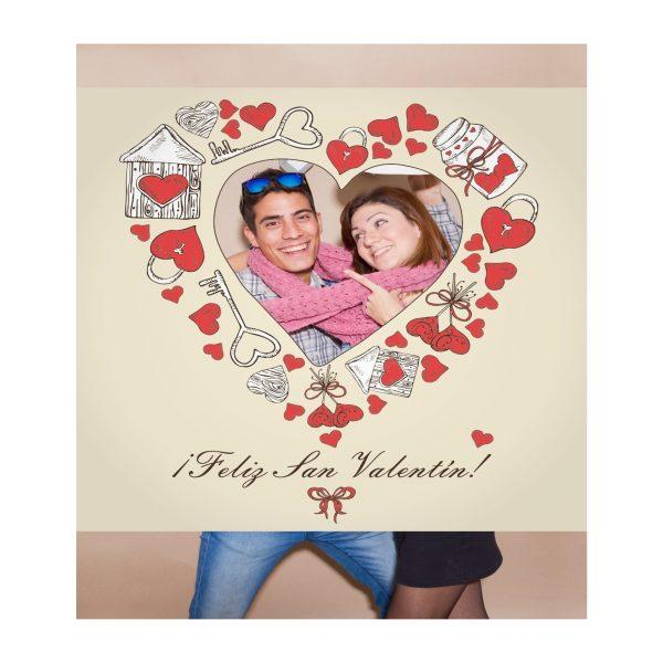 Photocall San Valentin 1x1m | Carteles XXL - Impresión carteleria publicitaria