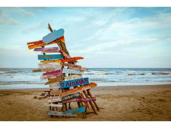 Vinilo Frigorífico Señales Playa | Carteles XXL - Impresión carteleria publicitaria