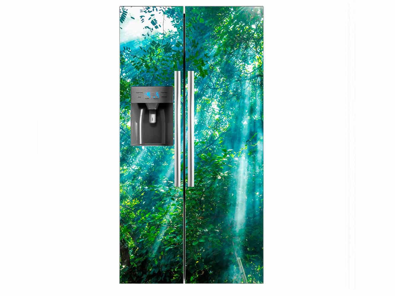 Vinilo Frigorífico Selva Iluminada | Carteles XXL - Impresión carteleria publicitaria