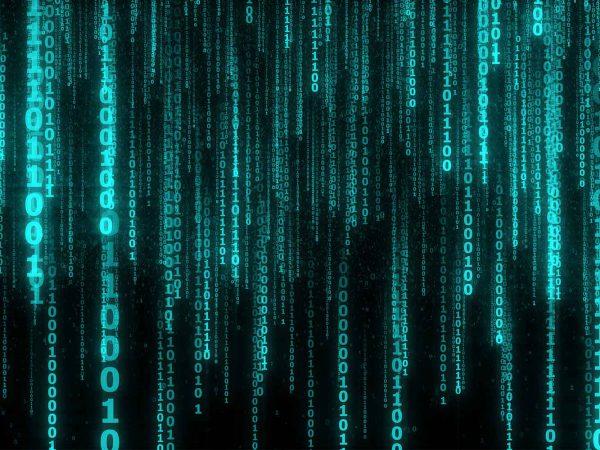 Vinilo Adhesivo PC Portátil Código Binario | Carteles XXL - Impresión carteleria publicitaria