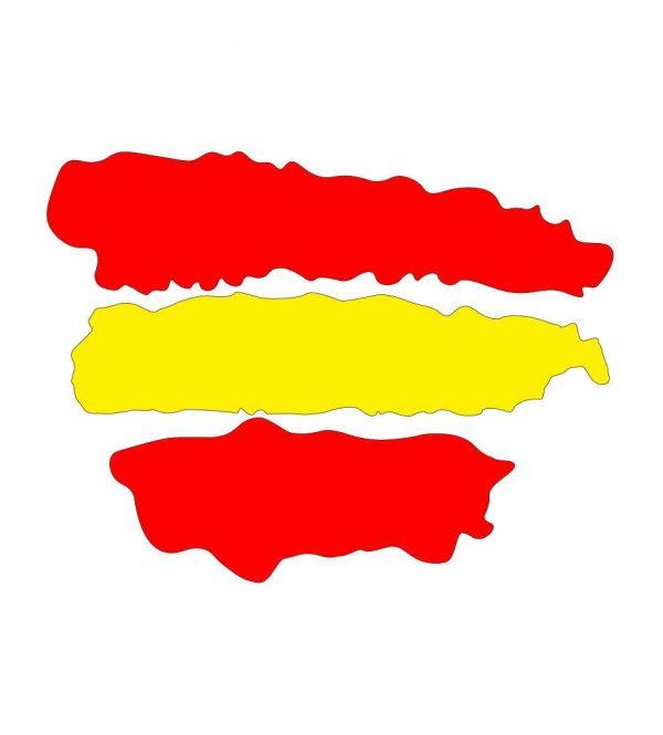 Vinilo pegatina Bandera España Trazos | Carteles XXL - Impresión carteleria publicitaria