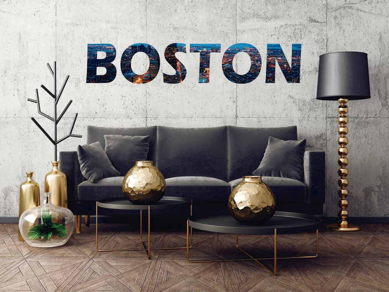 Vinilo Decorativo Ciudades Boston | Carteles XXL - Impresión carteleria publicitaria