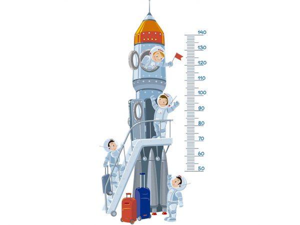 Vinilo Decorativo Infantil Cohete Medidor | Carteles XXL - Impresión carteleria publicitaria