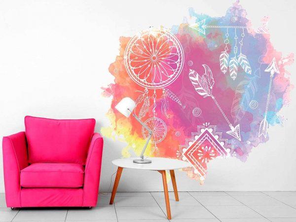 Vinilo Decorativo Espiritual Atrapasueños Colores | Carteles XXL - Impresión carteleria publicitaria