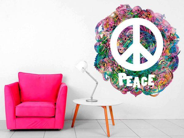 Vinilo Decorativo Hippie Símbolo Peace | Carteles XXL - Impresión carteleria publicitaria