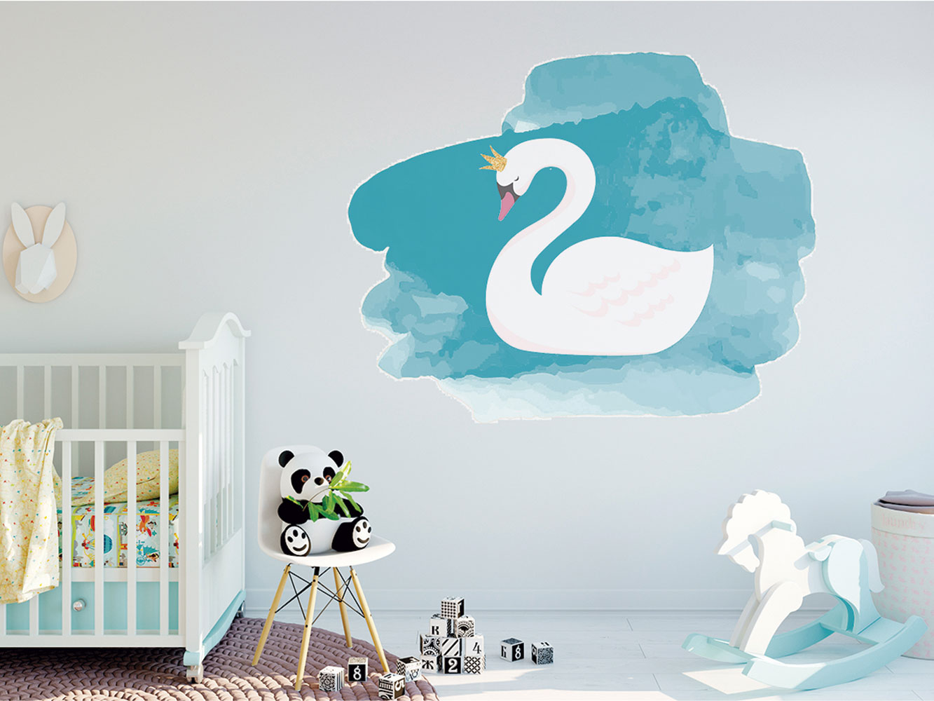 Vinilo Decorativo Infantil Cisne Acuarela | Carteles XXL - Impresión carteleria publicitaria
