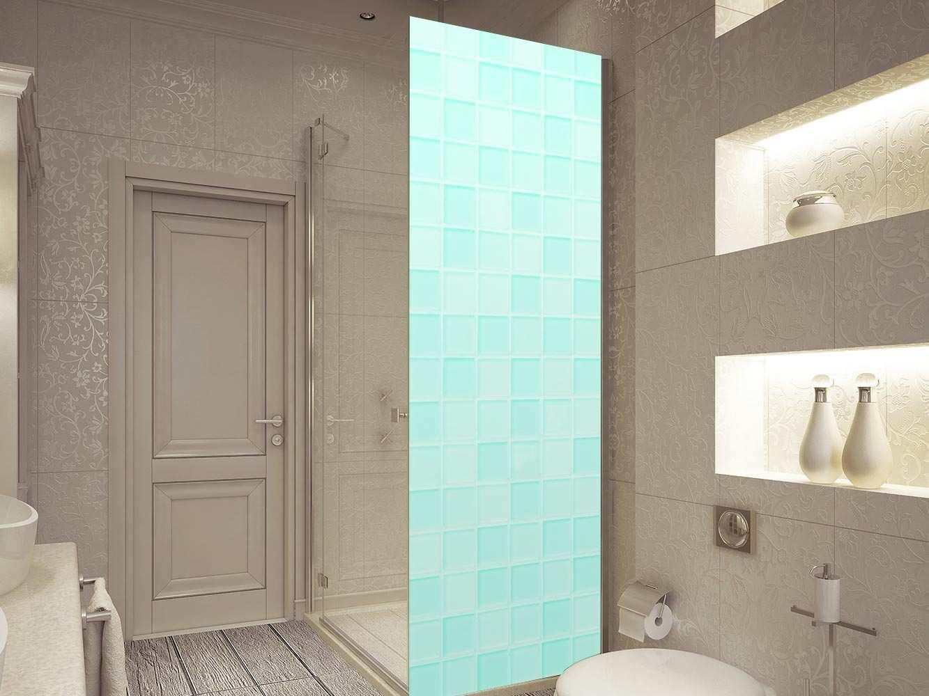 Vinilo Decorativo Mampara Textura Azulejos Turquesa | Carteles XXL - Impresión carteleria publicitaria
