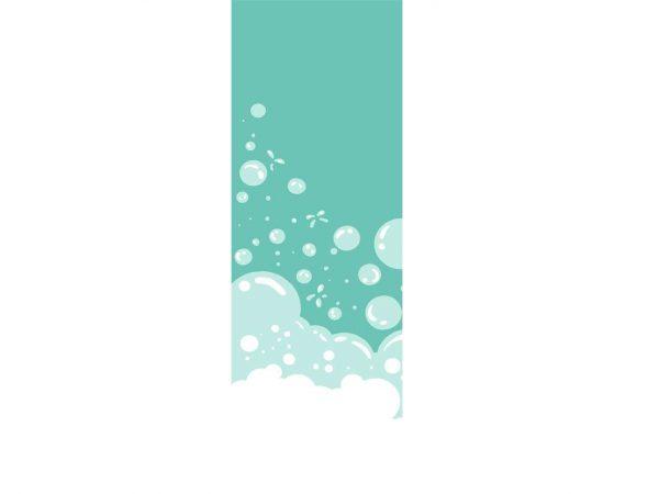 Vinilo Decorativo Mampara Burbujas Verdes | Carteles XXL - Impresión carteleria publicitaria