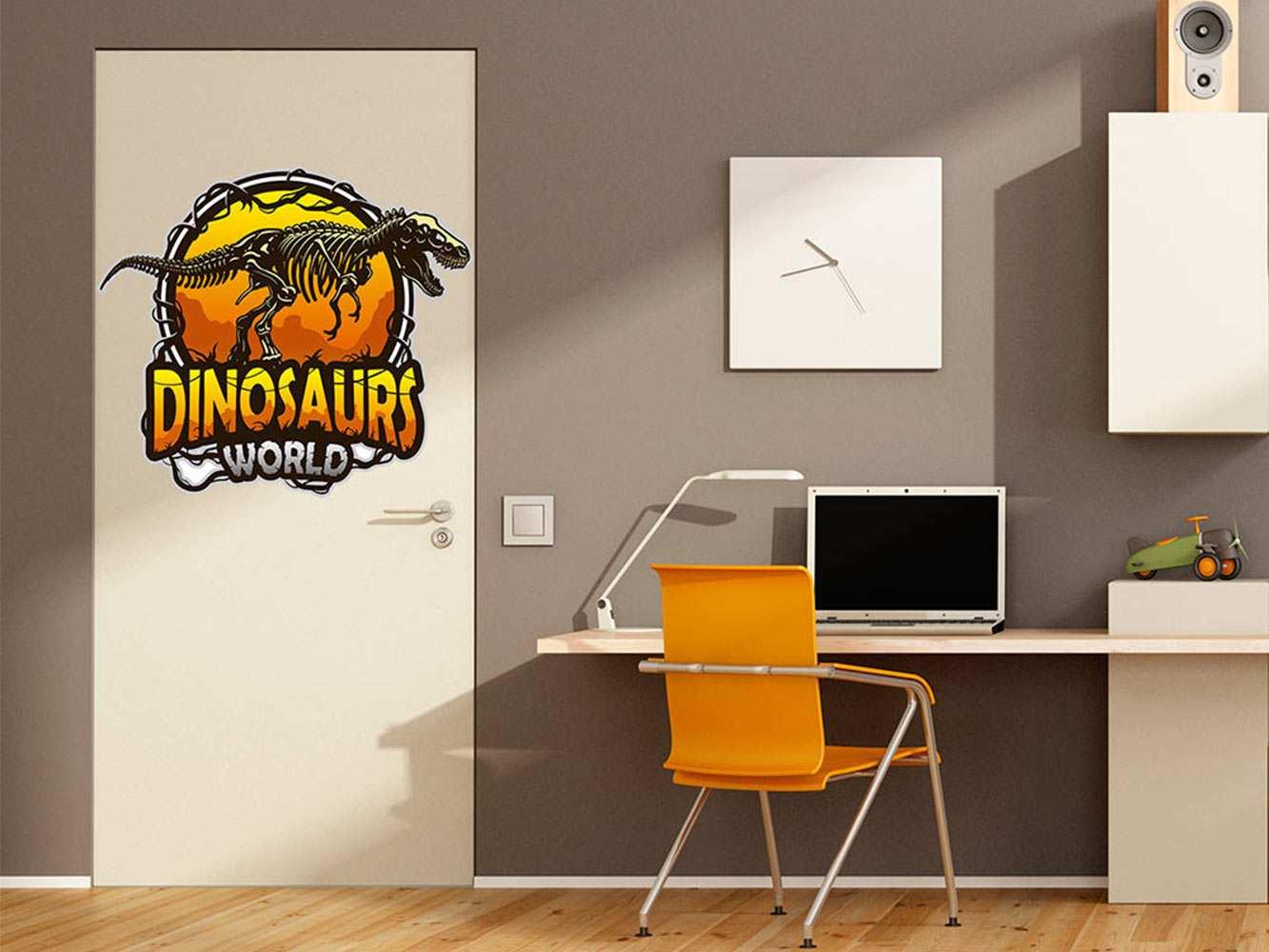 Vinilo Decorativo Puerta Dinosaurs World | Carteles XXL - Impresión carteleria publicitaria