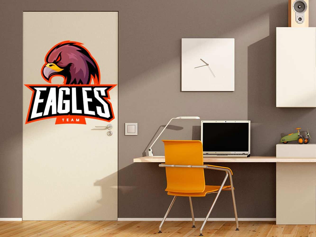 Vinilo Decorativo Puerta Eagles Team | Carteles XXL - Impresión carteleria publicitaria