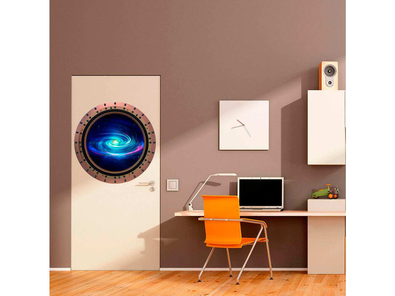 Vinilo Decorativo Puerta Galaxia Azul | Carteles XXL - Impresión carteleria publicitaria