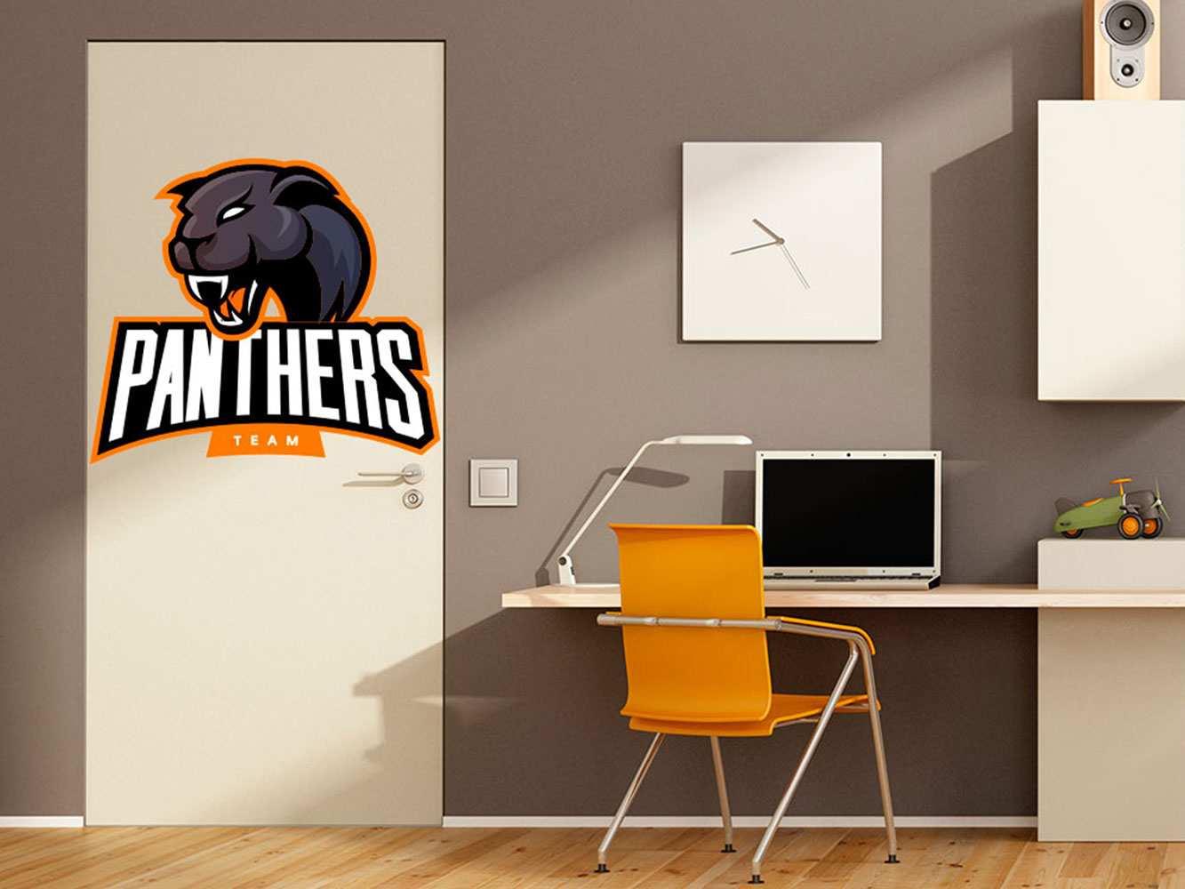 Vinilo Decorativo Puerta Panthers Team | Carteles XXL - Impresión carteleria publicitaria