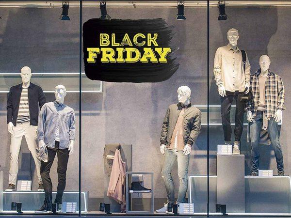Vinilo Escaparate Black Friday Amarillo Negro | Carteles XXL - Impresión carteleria publicitaria