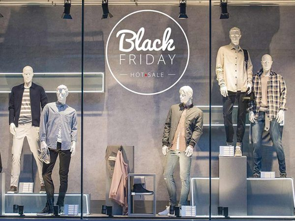 Vinilo Escaparate Black Friday Hot Sale Blanco | Carteles XXL - Impresión carteleria publicitaria