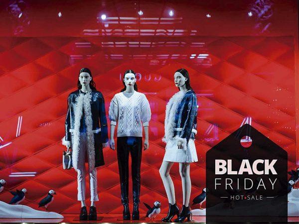 Vinilo Escaparate Black Friday Hot Sale Negro   Carteles XXL - Impresión carteleria publicitaria
