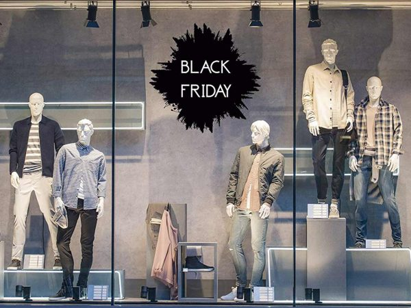 Vinilo Escaparate Black Friday Negro Blanco | Carteles XXL - Impresión carteleria publicitaria