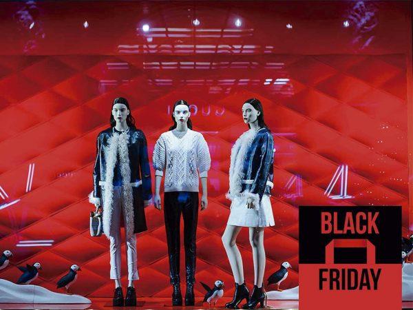 Vinilo Escaparate Black Friday Negro Rojo | Carteles XXL - Impresión carteleria publicitaria