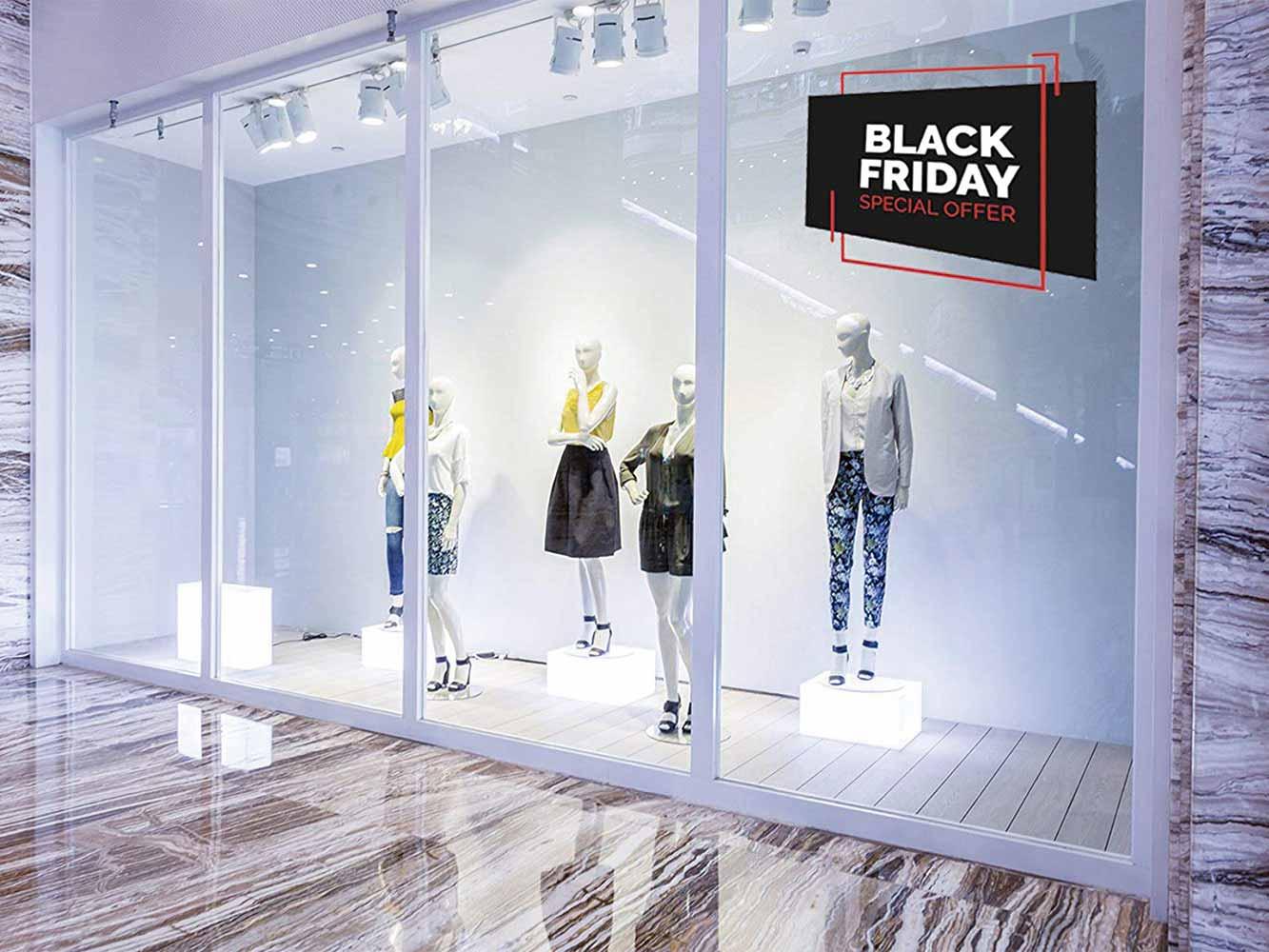 Vinilo Escaparate Black Friday Oferta Especial | Carteles XXL - Impresión carteleria publicitaria