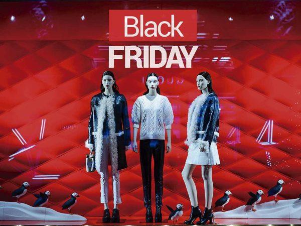 Vinilo Escaparate Black Friday Rojo Blanco | Carteles XXL - Impresión carteleria publicitaria
