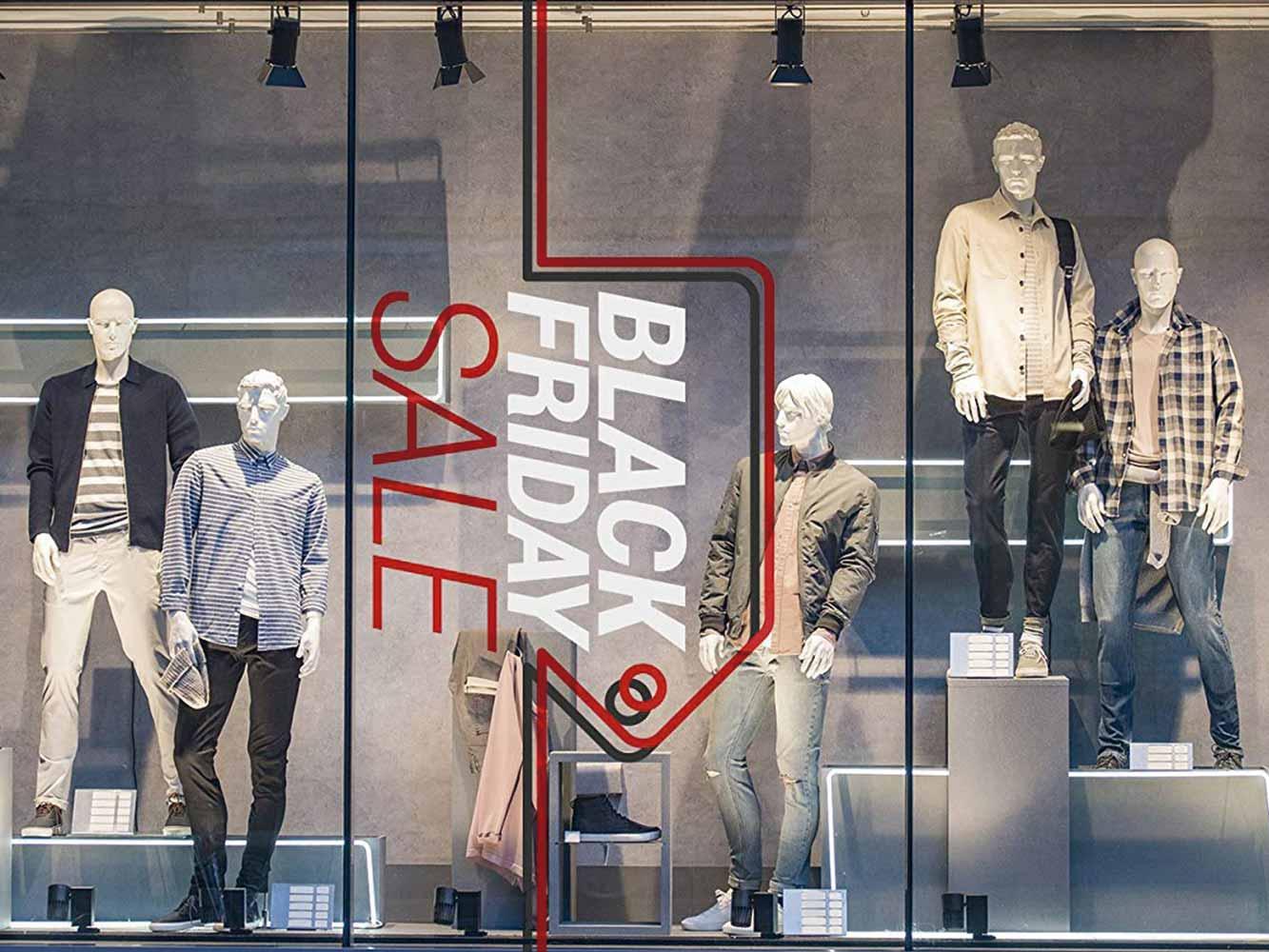 Vinilo Escaparate Black Friday Sale Blanco | Carteles XXL - Impresión carteleria publicitaria